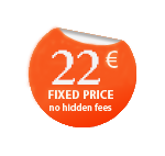 Fixed price - 22 EUR, no hidden fees.